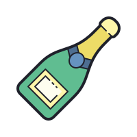 Champagne Bottle icon