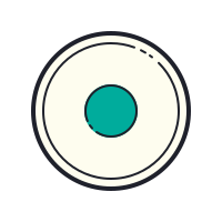 Cercle avec point icon
