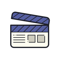 Movie clapper tool icon