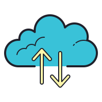 cloud backup-restore icon