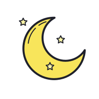 Crescent Moon Outline icon