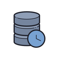 Server clocks and database icon