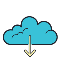 Aus der Cloud laden icon