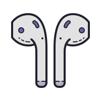 earbud headphones icon
