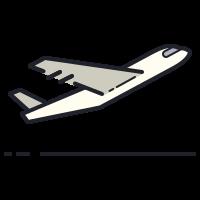 airplane take-off icon