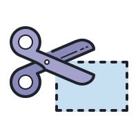 cutting coupon icon