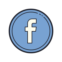 Facebook entouré icon