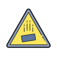 Falling Objects Hazard icon