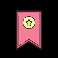 bookmark ribbon icon