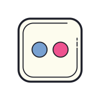 Two Circles in a Square icon