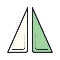 Rifletti in verticale icon