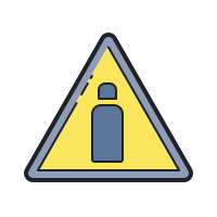 Gas Cylinders Hazard icon