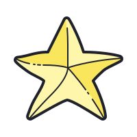 Hand Drawn Star icon