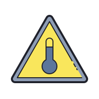 High Temperature Hazard icon