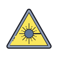 Laser Beam Hazard icon