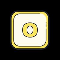 Desenho colorido à mão icon