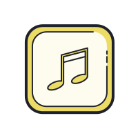 Music Note Outline icon