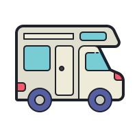 Camping-car icon