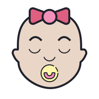 Sleeping Baby Girl icon