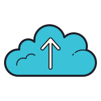 In die Cloud laden icon
