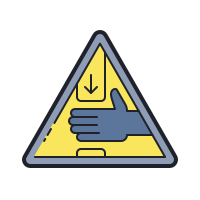 Warning Crushing Of Hands icon