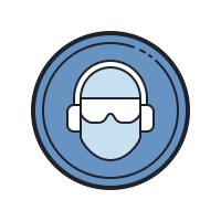 Wear Ear Plug And Goggles icon