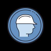 Wear Safety Helmet icon