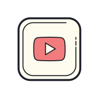 YouTube Play Button Logo icon