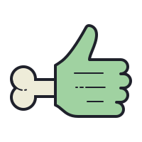 Zombie Hand Thumbs Up icon