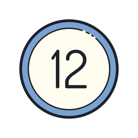 12 Circled icon