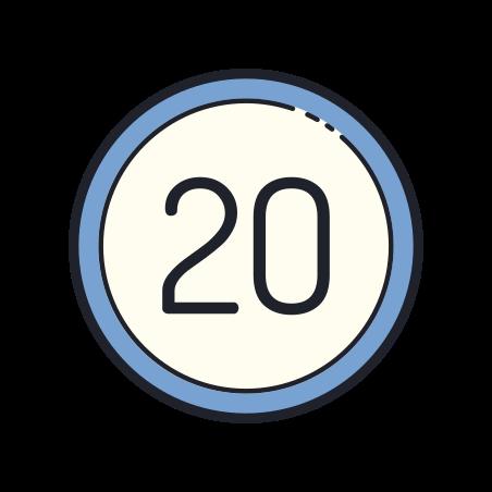 20 Circled icon