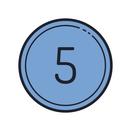 Circled 5 C icon