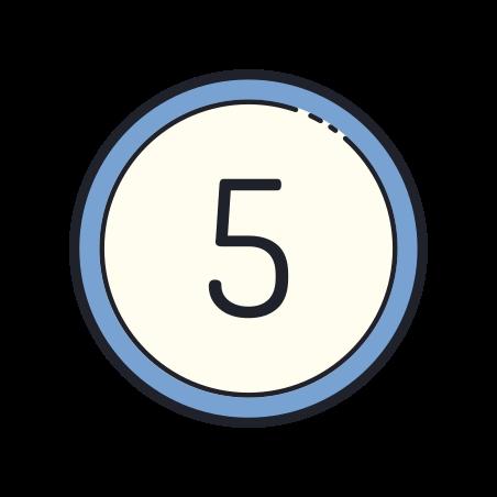 5 원 icon