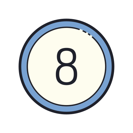 Circled 8 icon