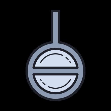 Agender Symbol icon in Color Hand Drawn