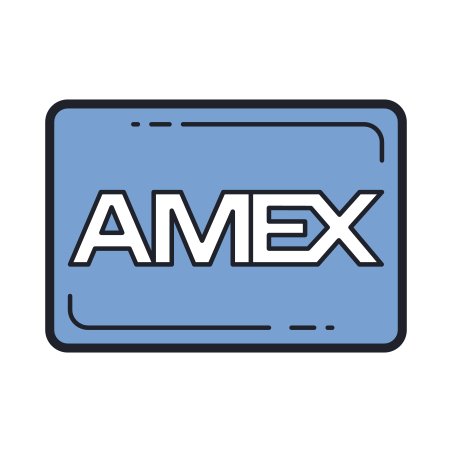 American Express icon in Color Hand Drawn