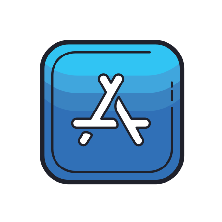 App Store icon in Color Hand Drawn