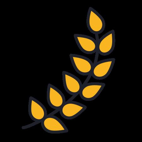 Barley icon in Color Hand Drawn