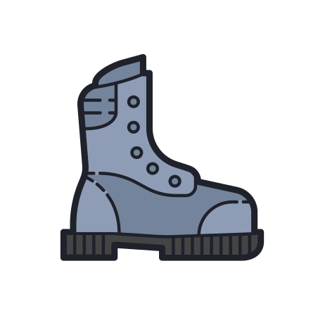 Boots icon in Color Hand Drawn