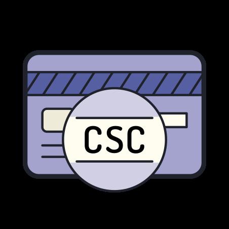 카드 보안 코드 icon in Color Hand Drawn