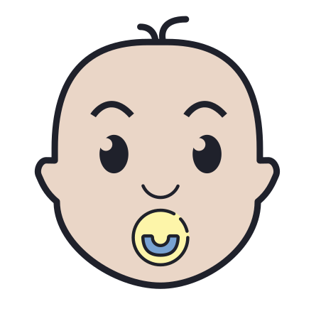 Child with Pacifier icon