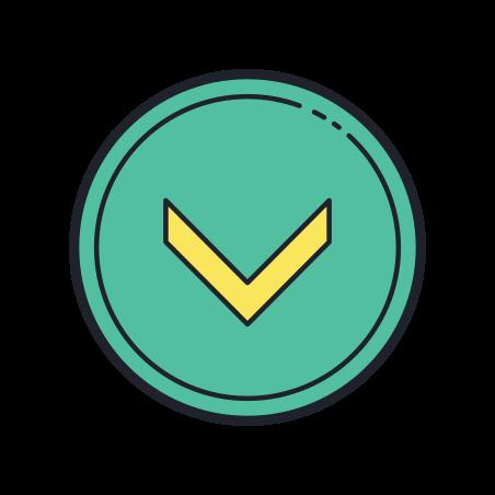 Chevron abajo en círculo icon