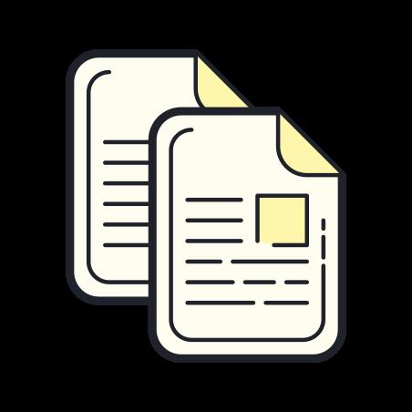 Copy icon in Color Hand Drawn