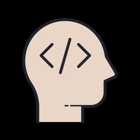 Developer icon in Color Hand Drawn