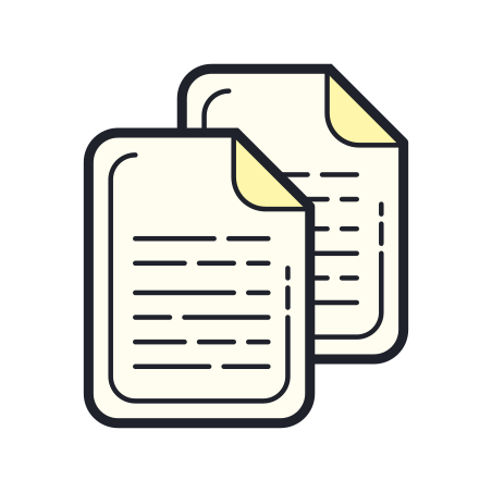 Documents icon in Color Hand Drawn