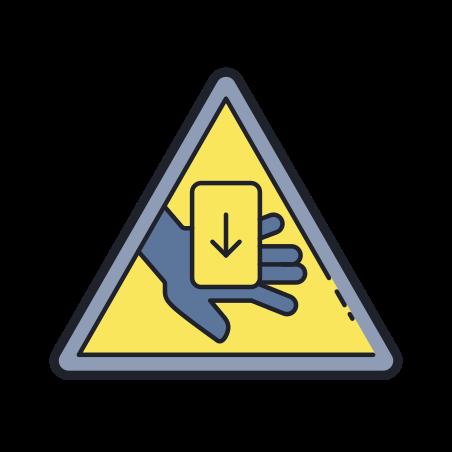 Entrapment Hazard icon in Color Hand Drawn
