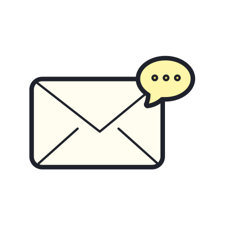 Envelope Dots icon in Color Hand Drawn