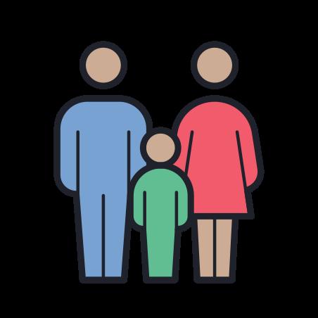 가족 남성 여성 icon