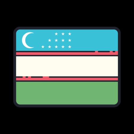 Flag Of Uzbekistan icon
