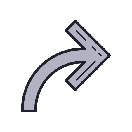 Forward Arrow icon in Color Hand Drawn